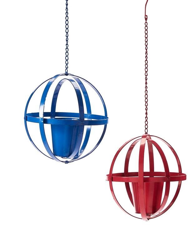 Hanging Orb Design Planters, 2 Asst.