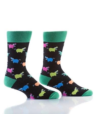 Men's Crew Sock, Hangry Hippo