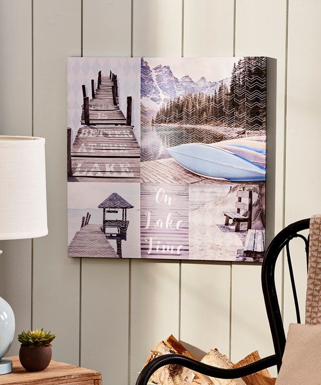 Canvas Print Lake House
