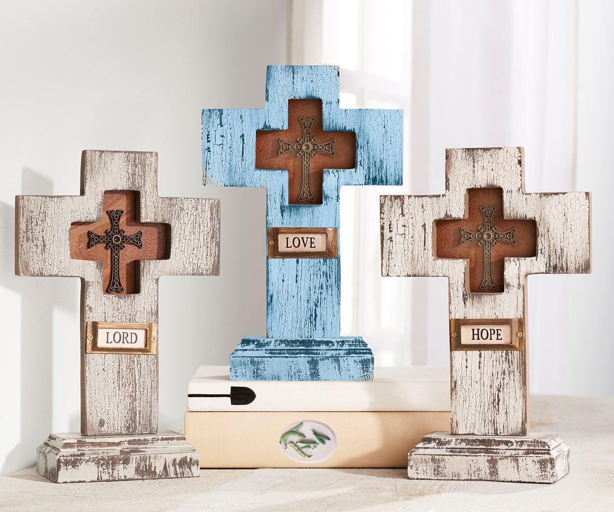 Antique Table Cross, 3 Asst.