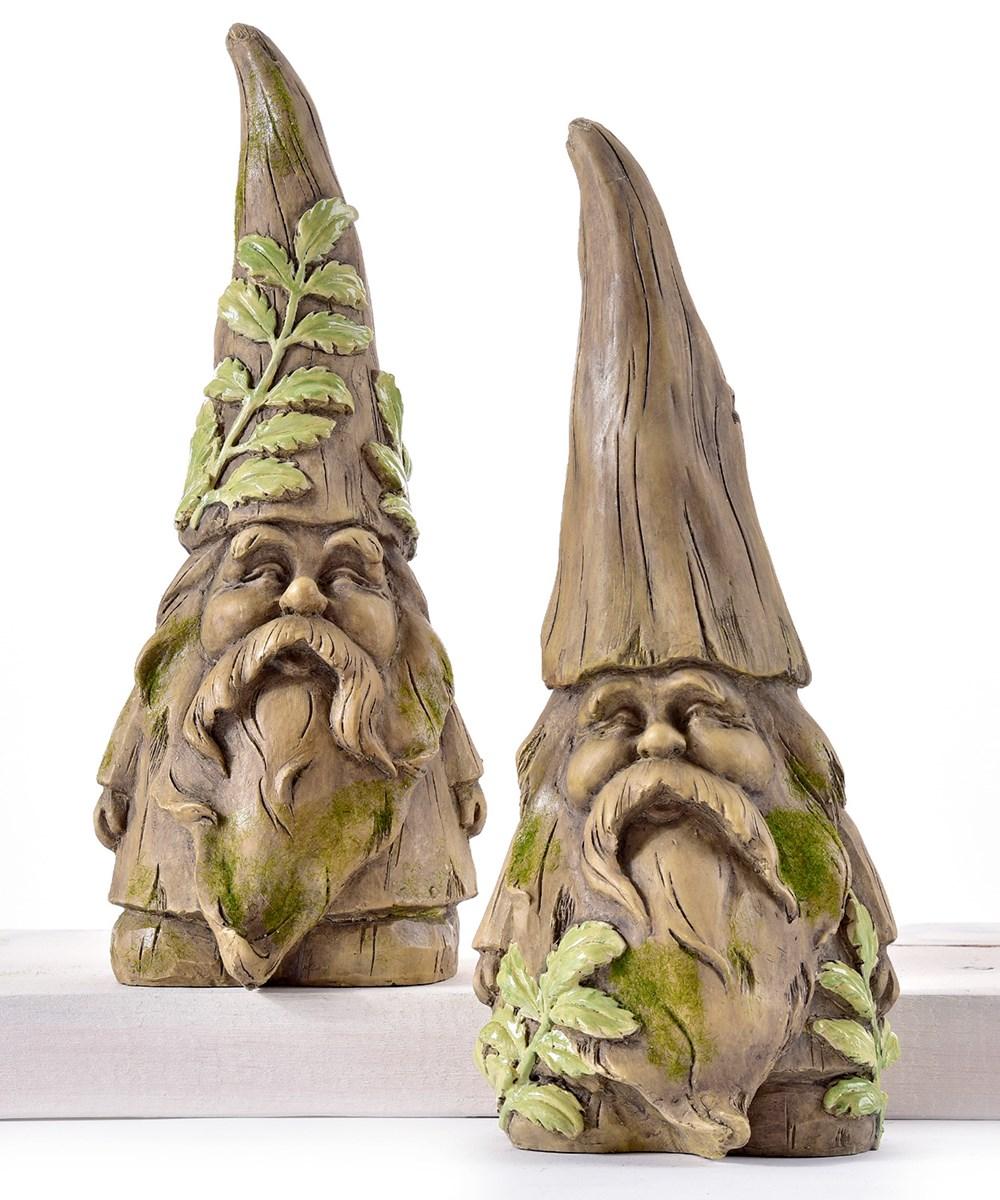 Garden Gnome Design Figurines, 2 Asst.