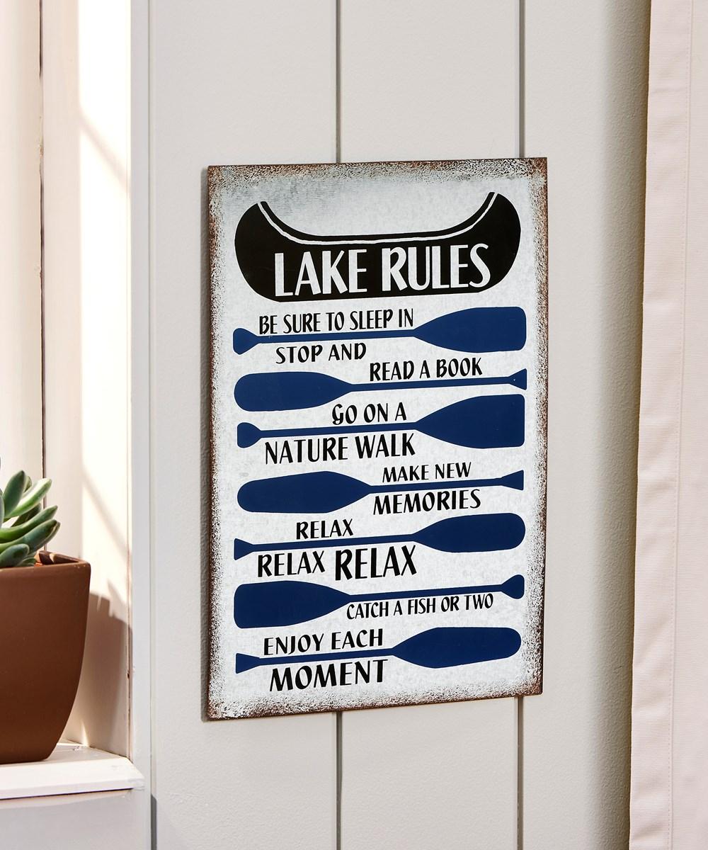 Wall Sign Lake Rules