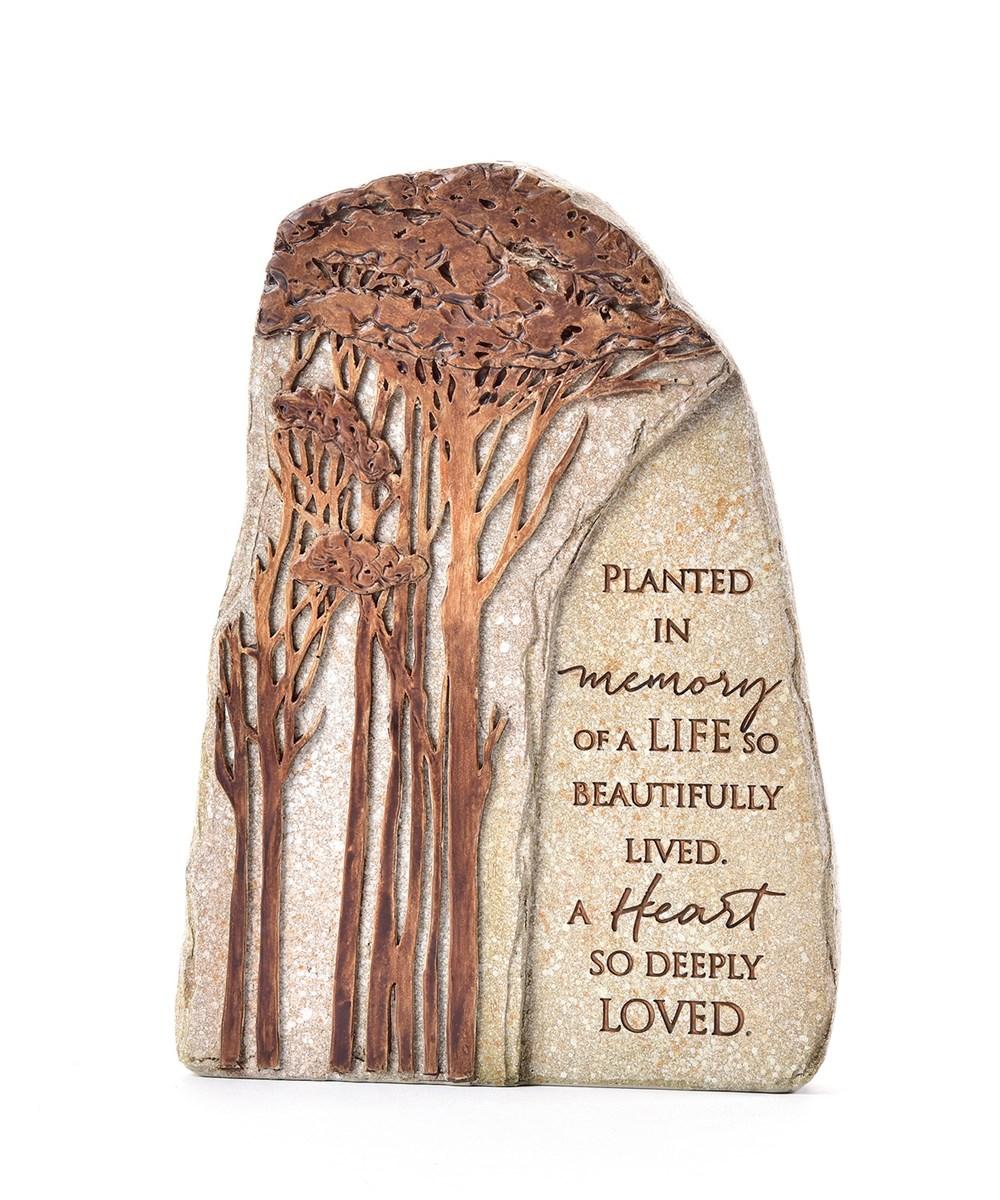 Memorial Family Tree Design Garden Stone