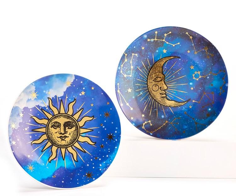 Celestial Design Plate, 2 Asst.