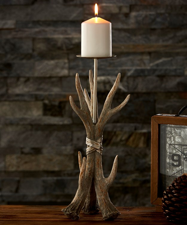 Small Antler Design Candle Holder