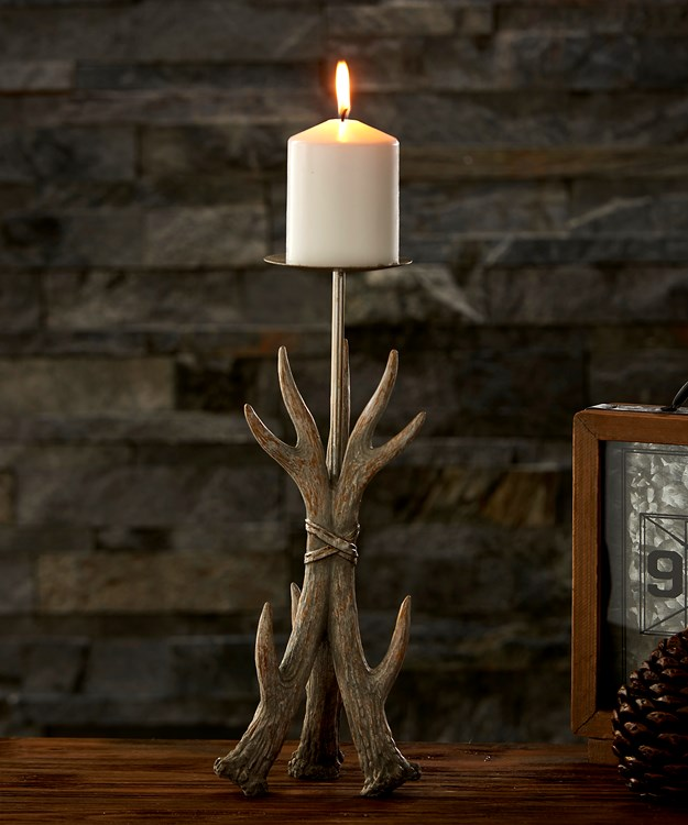 Large Antler Design Candle Holder