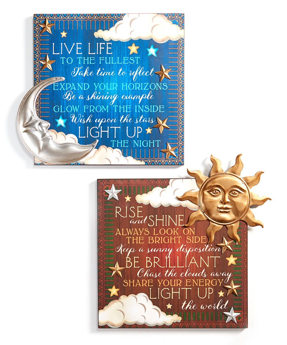 Celestial Design Wall Signs, 2 Asst.