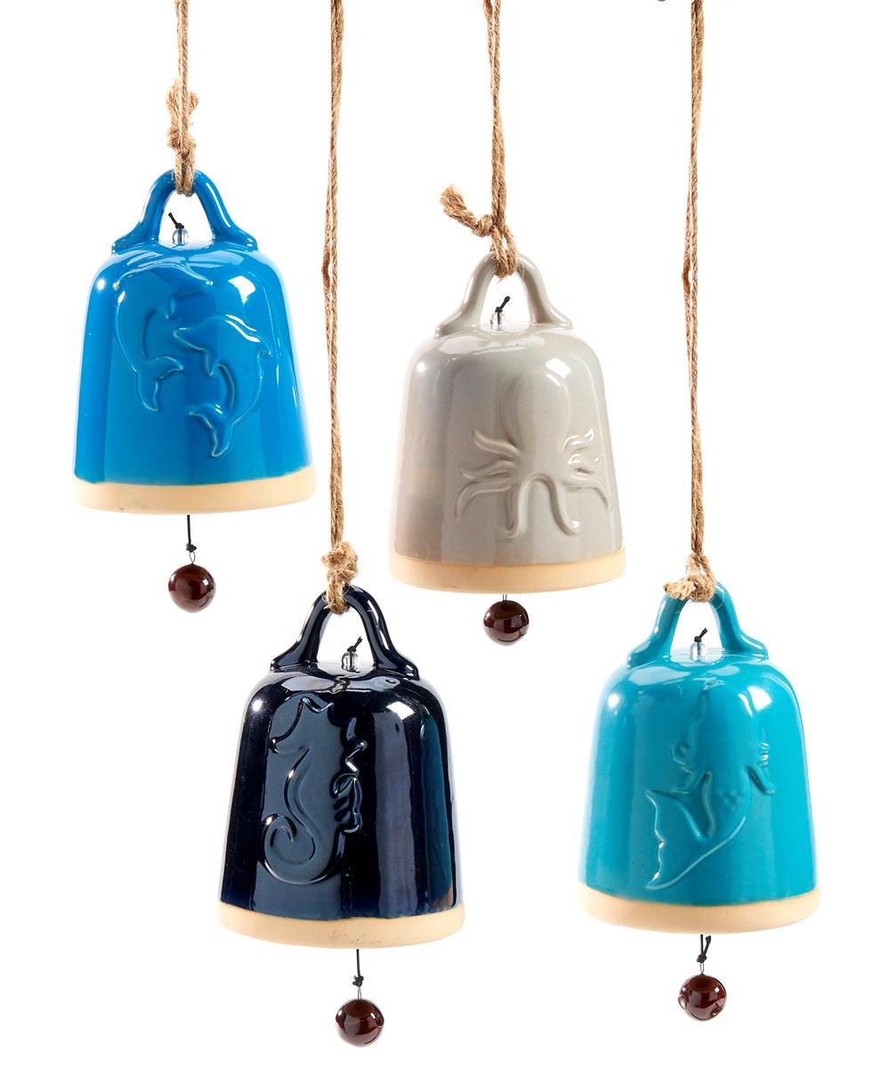 Ceramic Bell Windchime, 4 Asst.