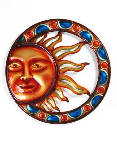 Sun Design Wall Plaque