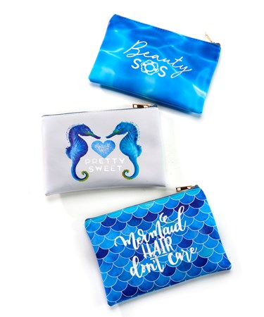Makeup Pouch w/Displayer, 3 Asst.
