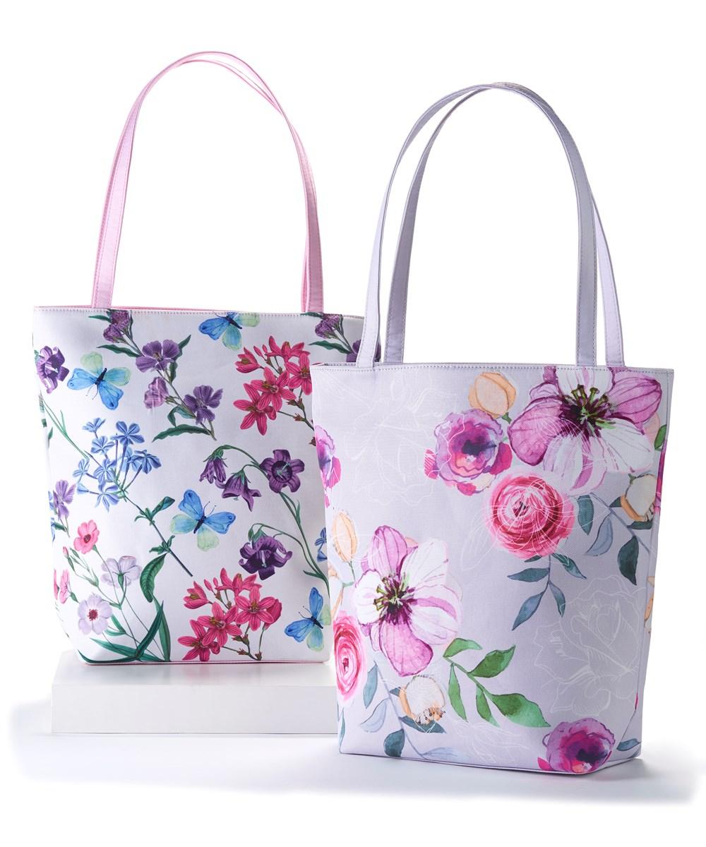 Wild Flower Tote Bag, 2 Asst.
