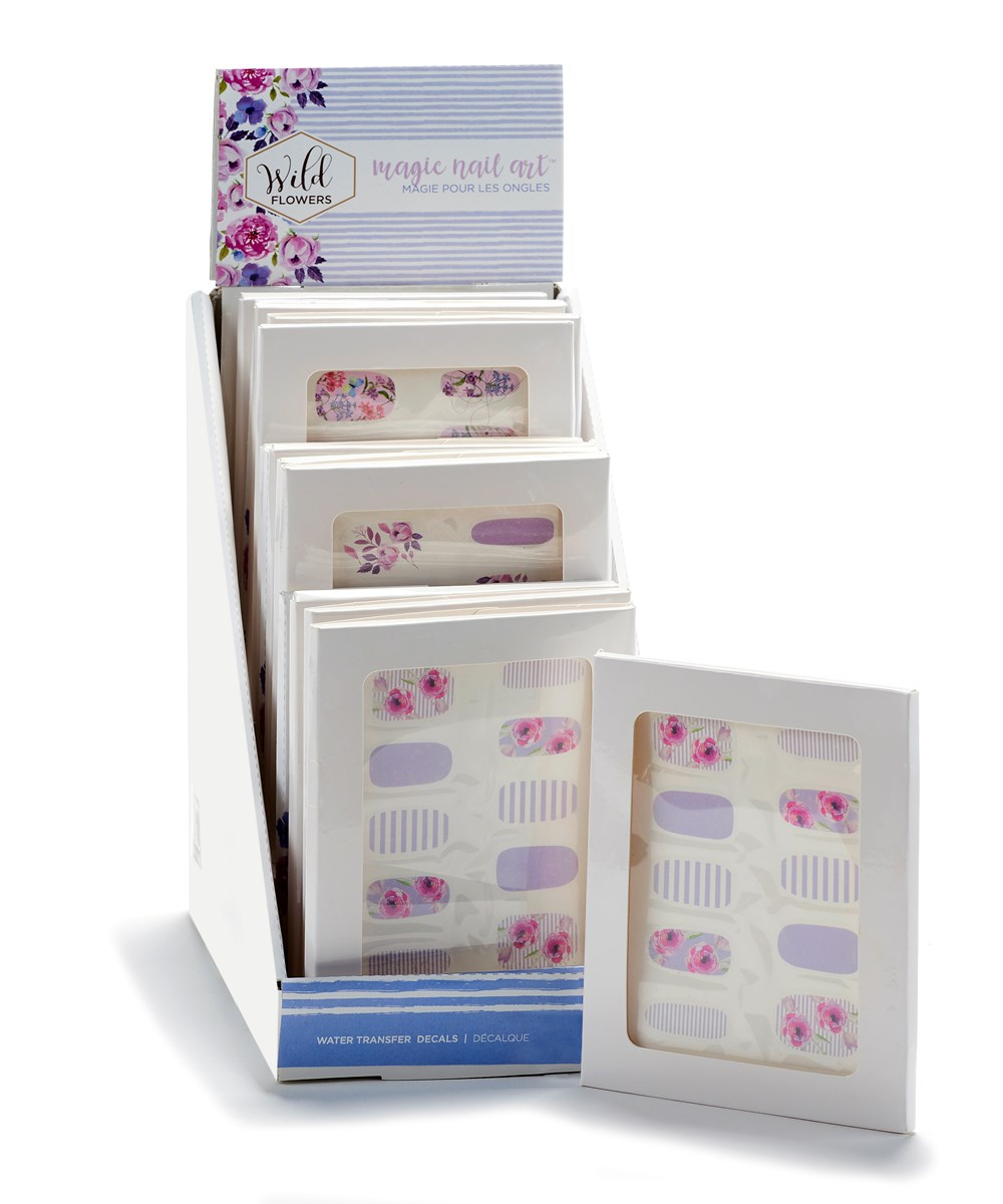 Nail Cover Sets w/Displayer, 3 Asst Sets