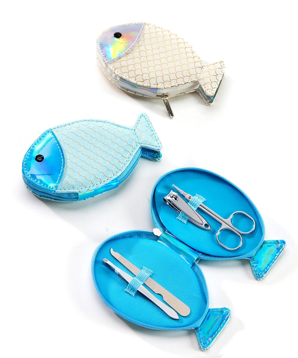 Fish Design Manicure Set w/Displayer, 2 Asst.