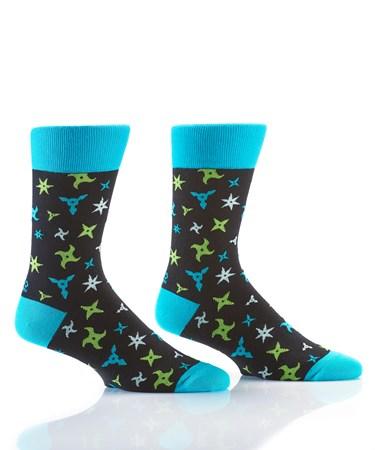 Men's Crew Sock, Ninja Stars