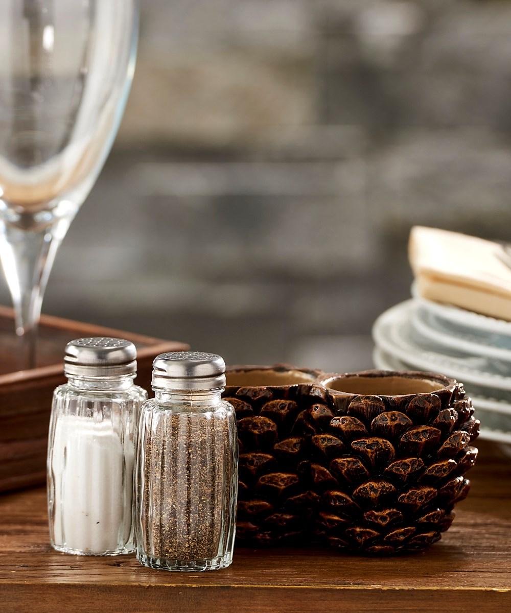 Pinecone Design Salt & Pepper Shaker Set