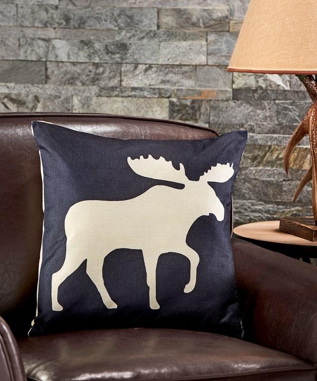 Moose Design Pillow