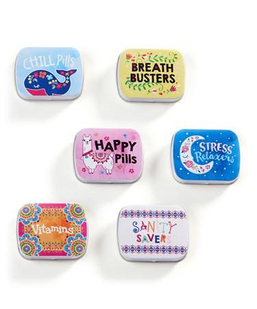 Pill Boxes, 6 Asst. w/Displayer