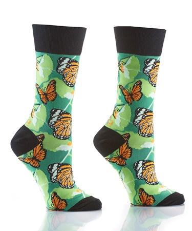 Women's Crew Sock, Butterfly