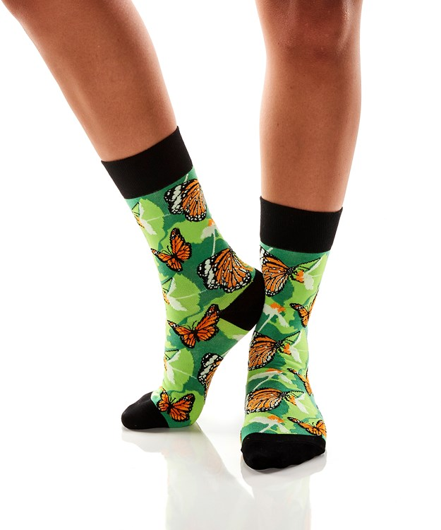 WomensCrewSockButterfly