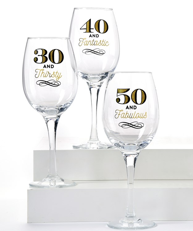 Cheers, Age Design Wine Glasses, 3 Asst.