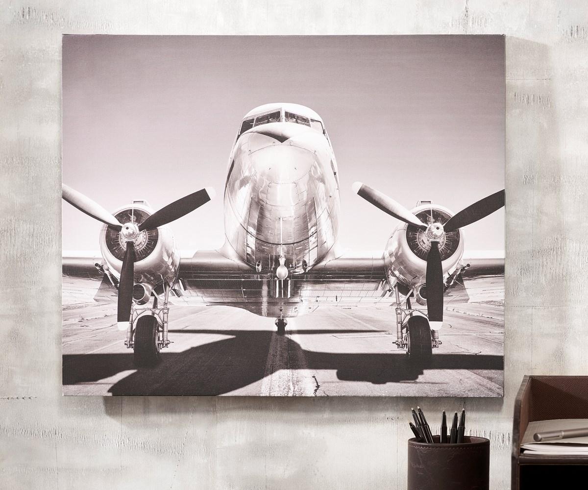 Canvas Airplane Print
