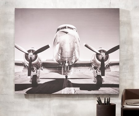 Canvas Airplane Print