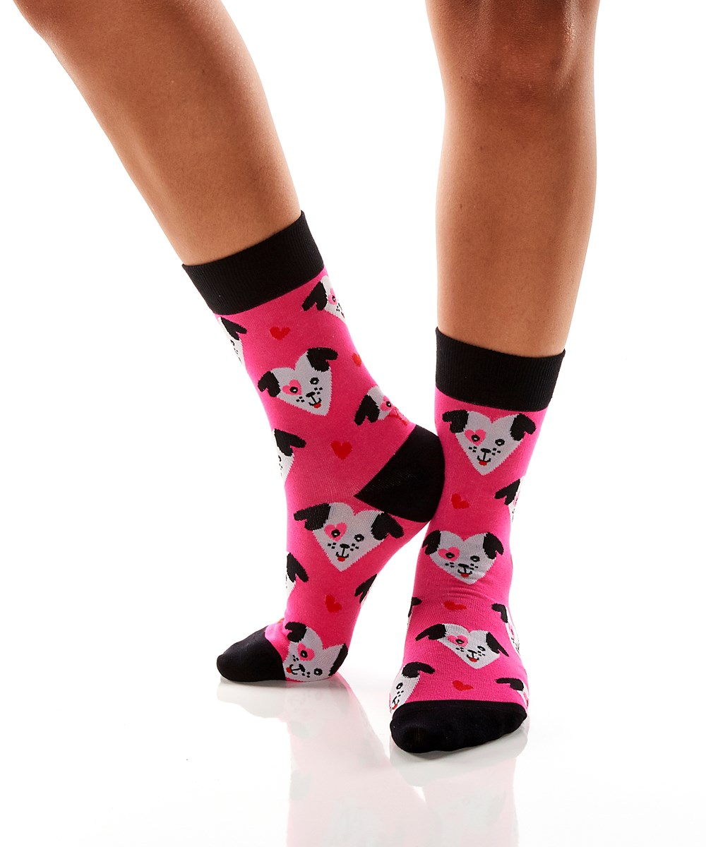Women's Crew Sock, Puppy Love