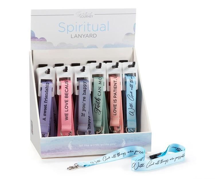 Spiritual Lanyard, 6 Asst. w/Displayer