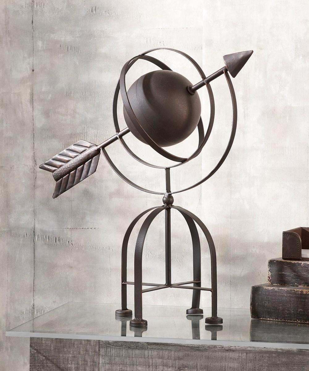 Arrow and Sphere Table  Decor