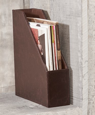 Faux Leather File Holder