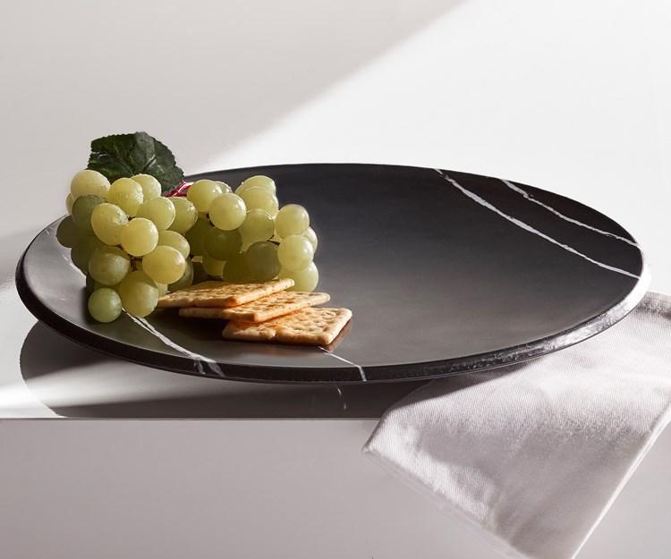 Marble Design Round Platter