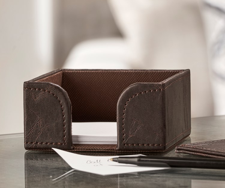 Faux Leather Memo Holder