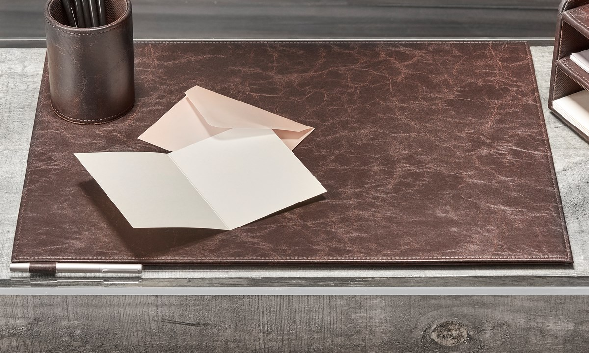 Faux Leather Desk Mat