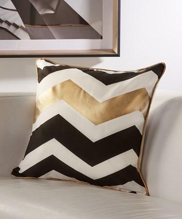 Contemporary Pillow with Chevron Design