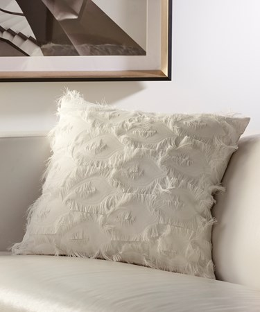 White Pillow with Fringe