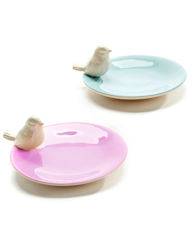 Birds & Bunnies Design Ring Dish, 2 Asst.