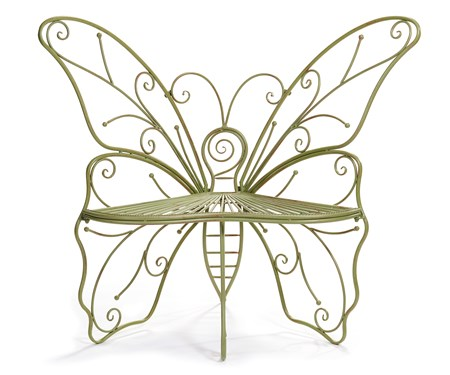 GreenMetalButterflyBench