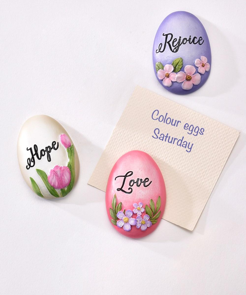 Easter Egg Design Magnet,3 Asst.