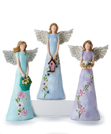 Angel Design Figurines, 3 Asst.