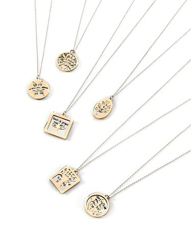 Sentimental Necklace, 6 Asst. w/Displayer