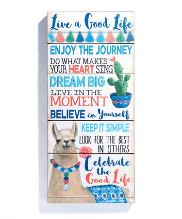 Good Life Rules Design Wall Sign