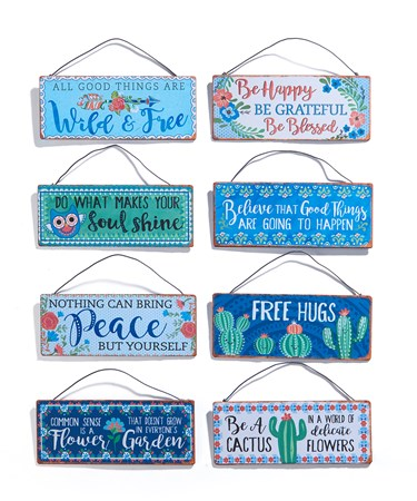Mini Wall Signs, 8 Asst.