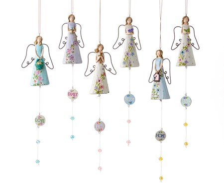 Angel Design Wind Chimes, 6 Asst.