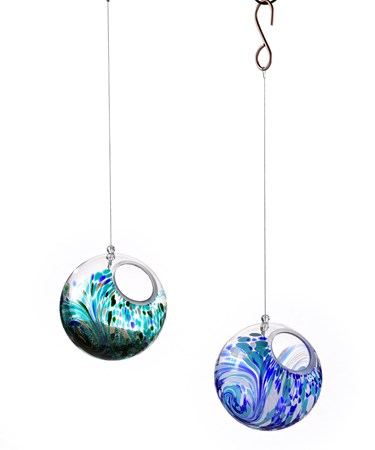Glass Orb Bird Feeder, 2 Asst.