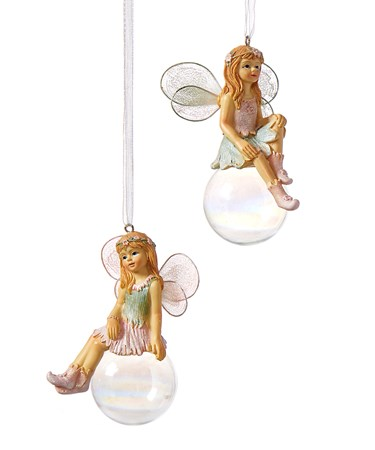 Fairy Figurine on Ball, 2 Asst.