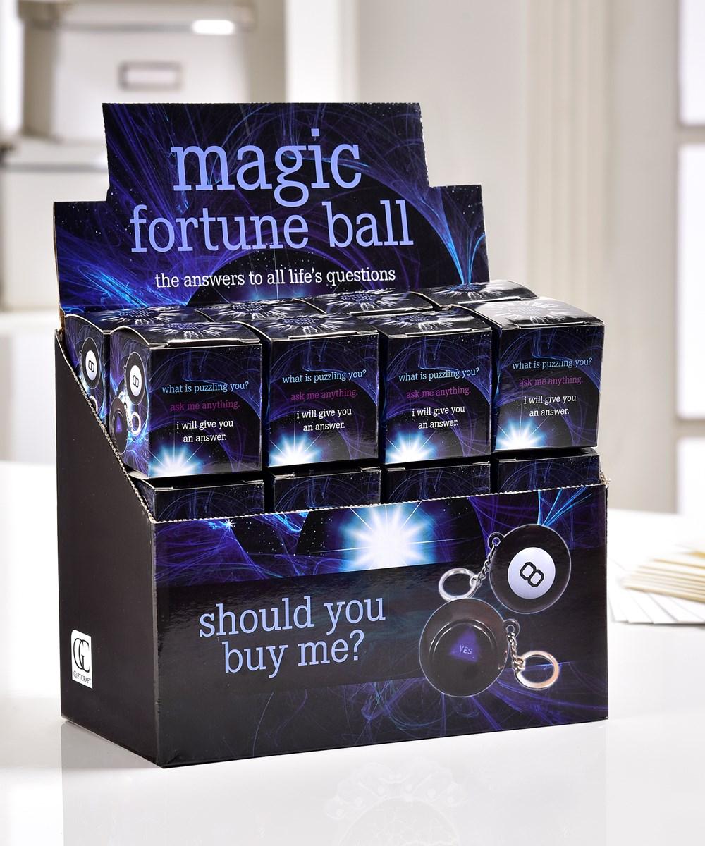 Magic Fortune Ball Keychain w/Displayer