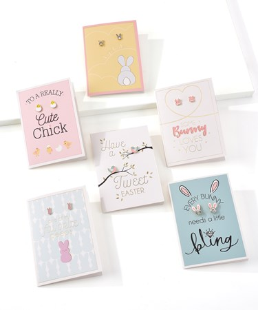 EasterGreetingCardwEarrings6AsstwDisplayer