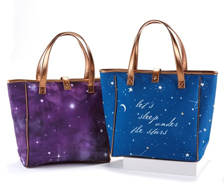 Night Sky Tote Bags, 2 Asst.