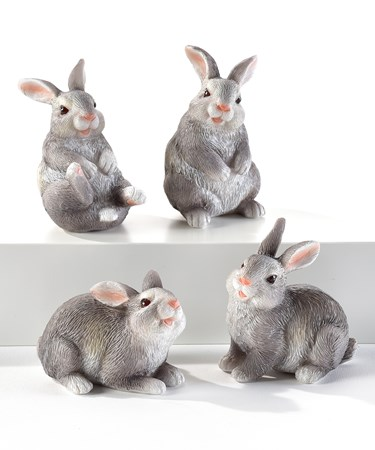 RabbitFigurinesSetof4