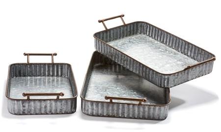 Metal Trays Set of 3